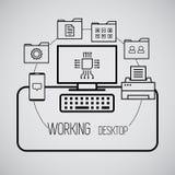 Desktop working Stock Images