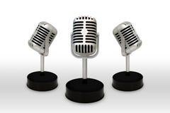 Desktopmicrofoon van een witte achtergrond wordt gescheiden die Uitstekende st Royalty-vrije Stock Foto