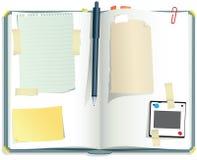 Desktopplakboek Stock Afbeeldingen