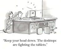 Desktops e tabuletas Imagens de Stock