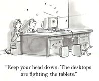 Desktops and tablets Stock Images