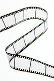 Deslice las tiras de la película con los marcos vacíos Fotos de archivo libres de regalías