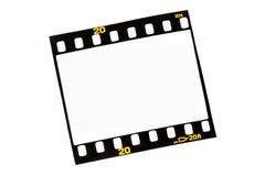 Deslice las tiras de la película con los marcos vacíos Imagen de archivo