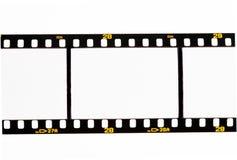 Deslice las tiras de la película con los marcos vacíos Fotografía de archivo