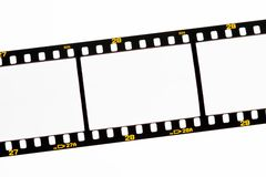 Deslice las tiras de la película con los marcos vacíos Fotografía de archivo libre de regalías