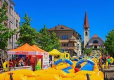 Deslice mi acción del día de la radio Zurisee en Wallisellen, Suiza Imagen de archivo