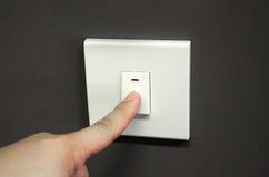 Desligando o interruptor leve Foto de Stock
