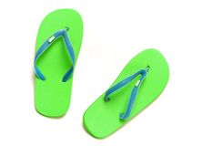 Deslizadores das sandálias no branco   Imagem de Stock Royalty Free