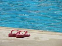 Deslizadores de la piscina imagen de archivo libre de regalías