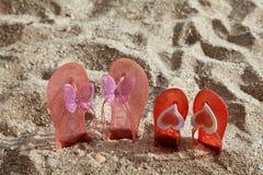 Deslizadores de la playa en arena Imagen de archivo