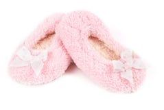 Deslizadores mullidos rosados Imagen de archivo