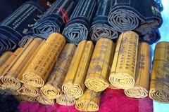 Deslizamentos do bambu de China Fotografia de Stock Royalty Free
