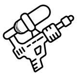 Deslizamiento del icono del arma de agua stock de ilustración