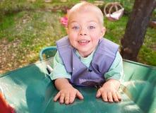 Deslizando o menino Foto de Stock Royalty Free