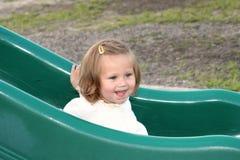 Deslizando o sorriso 2 da placa Fotos de Stock Royalty Free