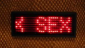 Deslizar el sexo del texto que destella con el LED rojo
