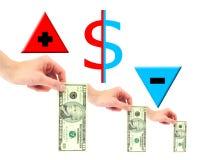 Desloc o dinheiro Imagem de Stock