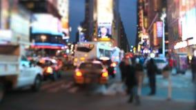 Deslocamento da inclinação do lapso de tempo do Times Square video estoque