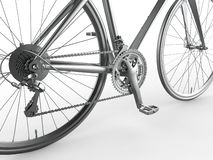 Deslocamento de engrenagem 3D detalhado da bicicleta para render ilustração royalty free