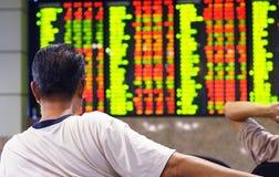 Deslocamento predeterminado do mercado de valores de acção Fotografia de Stock Royalty Free