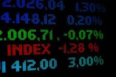 Deslocamento predeterminado do mercado de valores de acção Foto de Stock