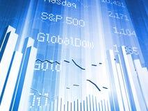 Deslocamento predeterminado do mercado de valores de acção grande Fotos de Stock