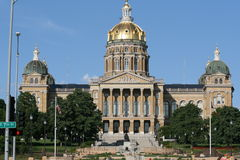 DesMoinesCapitol Royalty Free Stock Photography
