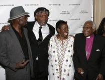 Desmond Tutu L i Samuel jackson obrazy stock