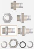 Desmontagem das conexões de tubulação americanas. Imagem de Stock Royalty Free