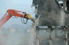 Desmontando o braço do escavador Foto de Stock