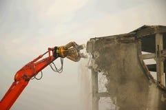 Desmontando o braço do escavador Imagens de Stock