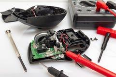 Desmontou o rato do computador foto de stock