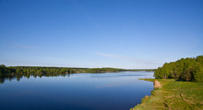 Desna river landscape. Sunnny day with clear sky Stock Photography