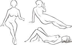 Desnudez e encanto Imagens de Stock