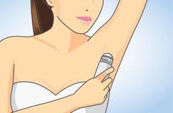 Desodorantes del axila con la carga rodada del cuerpo Imágenes de archivo libres de regalías