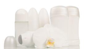 Desodorierende Mittel und Orchideenblume Lizenzfreies Stockbild
