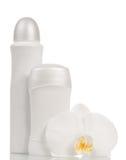 Desodorierende Mittel und Orchideenblume Stockfoto