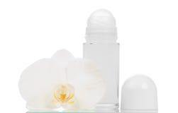 Desodorierende Mittel und Orchideenblume Lizenzfreie Stockfotografie