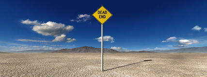 Desolate Desert Dead End Illustration Royalty Free Stock Photos