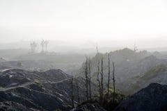 desolate landscape Volcanic wasteland background Royalty Free Stock Photos