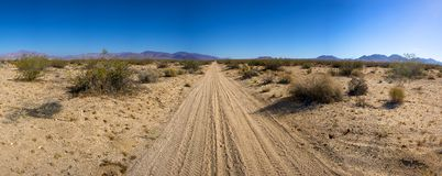 Desolate Mojave Desert Road Royalty Free Stock Photography