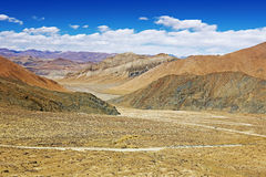 Desolate Plateau Landscape In Tibet Royalty Free Stock Photography