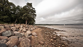 Desolate Rocky Beach Royalty Free Stock Photography