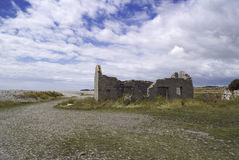 Desolate ruin in Wales, UK Stock Image