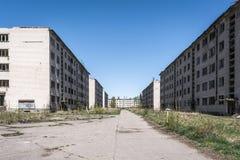 Abandoned Skrunda city royalty free stock image