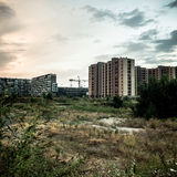 Desolate suburb landscape Royalty Free Stock Image