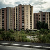 Desolate suburb landscape Royalty Free Stock Photo