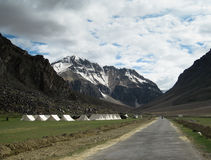 Desolate Tourist Tent Camp, Ladakh India Royalty Free Stock Photography