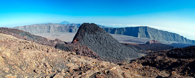 Desolate volcanic landscape Royalty Free Stock Photography