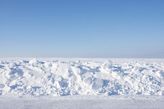 Desolate winter landscape. Desolate snow covered Minnesota winter landscape stock photo
